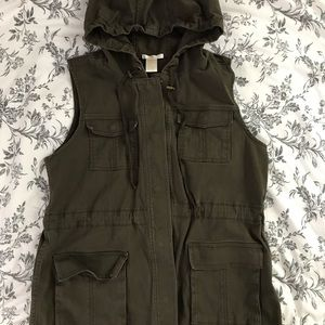 Matty M dark olive green utility vest